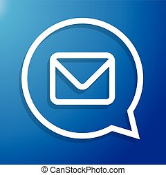 Email icon- Message symbol vector