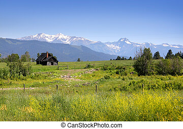 Scenic landscape in montana - Scenic landscape on the way to...