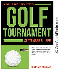 Golf Tournament Flyer Invitation Illustration