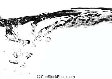 Water Level - A studio photo of a water surface