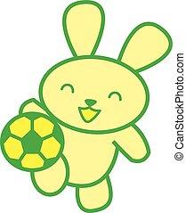 Soccer rabbit vector art