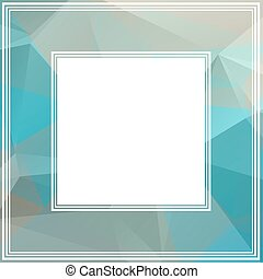 blue gray border - Polygonal abstract border with blue and...
