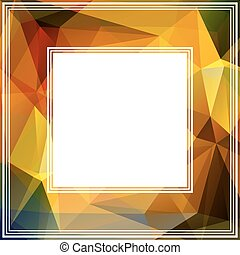 abstract golden border
