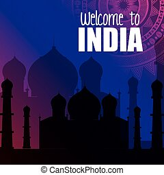monument india taj mahal design vector illustration eps 10