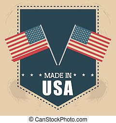 flag united states america design vector illustration eps 10