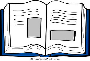 Cartoon book - Cartoon illustration of an open book