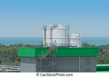 Chemical storage tank area.