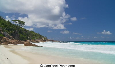 gorgeous beach - whitecaps arriving on wonderful beach at...