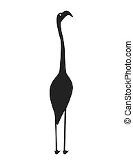 heron bird silhouette isolated