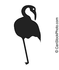 heron bird silhouette isolated vector illustration design