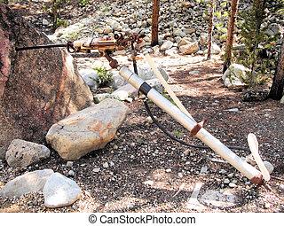 Jackleg Mining Tool - Actual Jackleg Tool used in the mining...