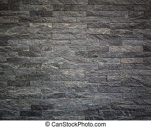 Pattern of black slate wall texture for background - Pattern...