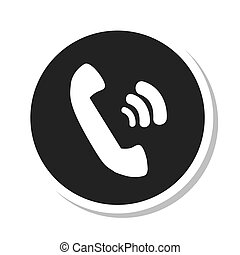 telephone retro isolated icon vector illustration design