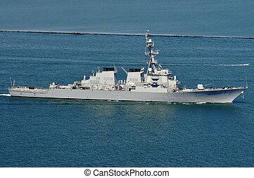 The USS Higgins (DDG 76), an Arleigh Burke-class guided...