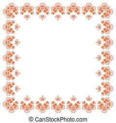 Floral frame for making wedding invitations and holidays. Cherry blossoms.