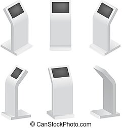 Advertising display terminal for payment or interactive...