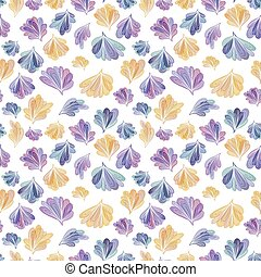 Abstract Fall Leaves Vector Pattern