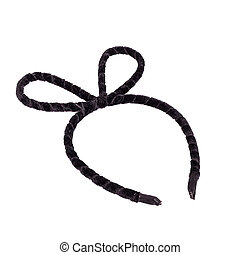 Black headband isolated on white background - Close up black...