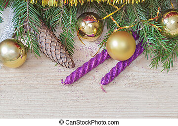 Christmas and New year decoration for the holiday - On a...