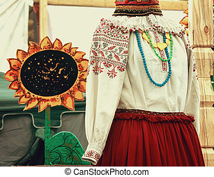 The ancient national costume on a mannequin. - Beautiful...
