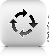 Arrow loop, refresh, reload, rotation, reset icon - Black...