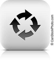 Arrow refresh, reload, rotation, reset, loop icon - Arrow...
