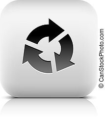 Arrow sign rotation, reset, refresh, reload icon - Black...