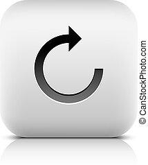 Arrow reset, loop, refresh, reload, rotation icon - Arrow...