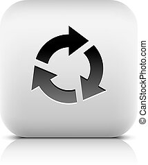 Arrow sign reload, rotation, reset, refresh icon - Black...