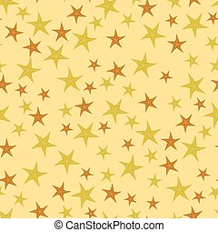 Exotic Seafish Seamless Pattern on Yellow Background