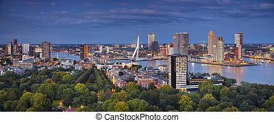 Rotterdam Panorama. - Panoramic image of Rotterdam,...