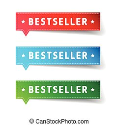 Bestseller label set vector