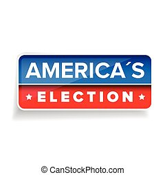 Americas Election vector button