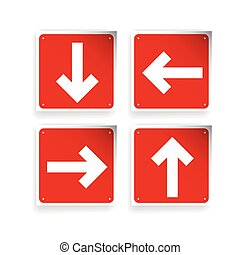 Left Right Up Down Arrows button