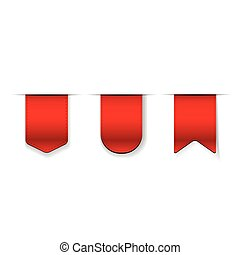 Vector Red Ribbon set