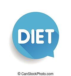 Diet label vector speech bubble