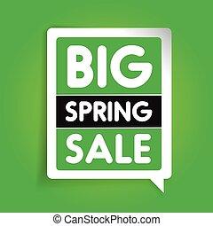 Big spring sale vector