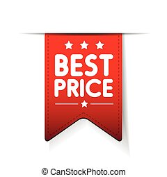 Best price red ribbon vector