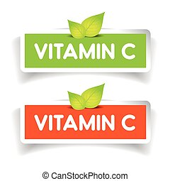 Vitamin C label vector set