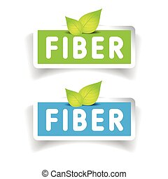 Fiber label vector set
