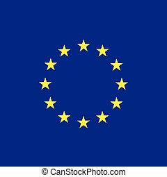 Europe flag (EU) vector