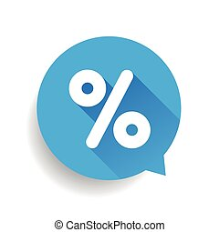 Percent sign vector speech bubble