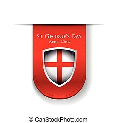 St George Day England flag shield