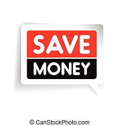 Save money label vector