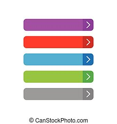Empty button set flat design