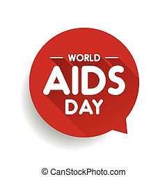 World AIDS Day Speech bubble