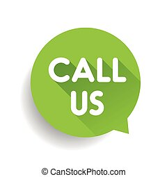 Call us vector label green