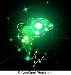 Abstract human brain.