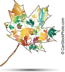 maple leaf - Colorful abstract maple leaf.