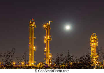 Night light of petrochemical plant.